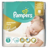PAMPERS Premium Care 1 NEWBORN 2-5 kg plienky 88ks
