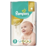 PAMPERS Premium Care 3 MIDI 4-9 kg plienky 60ks