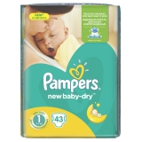 PAMPERS Active baby 3 NEWBORN 2-5 kg plienky 43ks