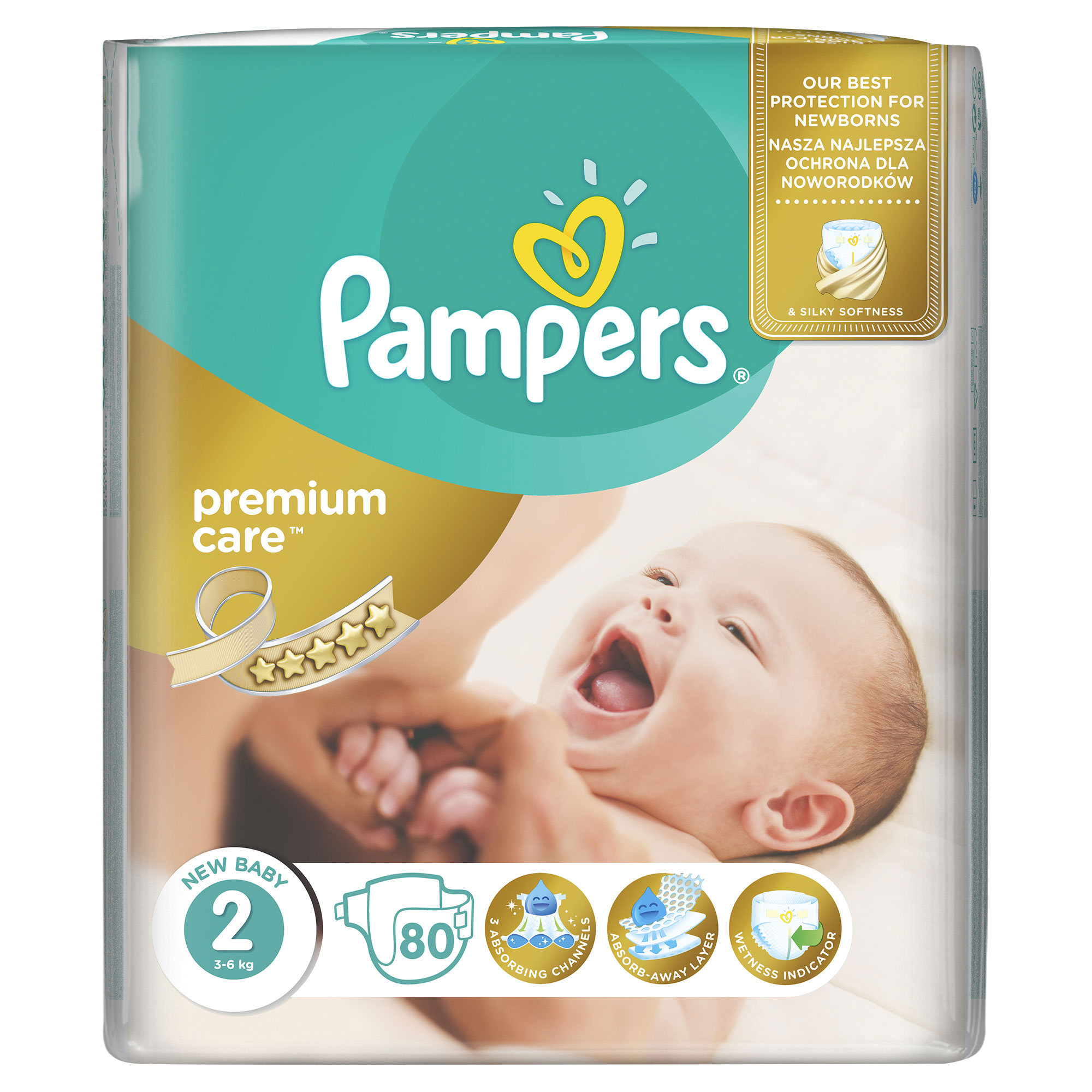 PAMPERS Premium Care 2 MINI 3-6 kg plienky 80ks